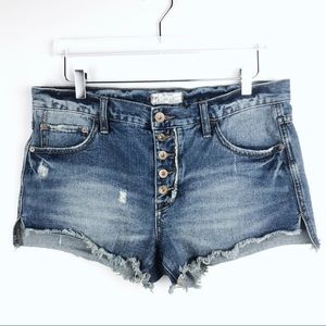 Free People Runaway Slouch Cutoffs Sz 29